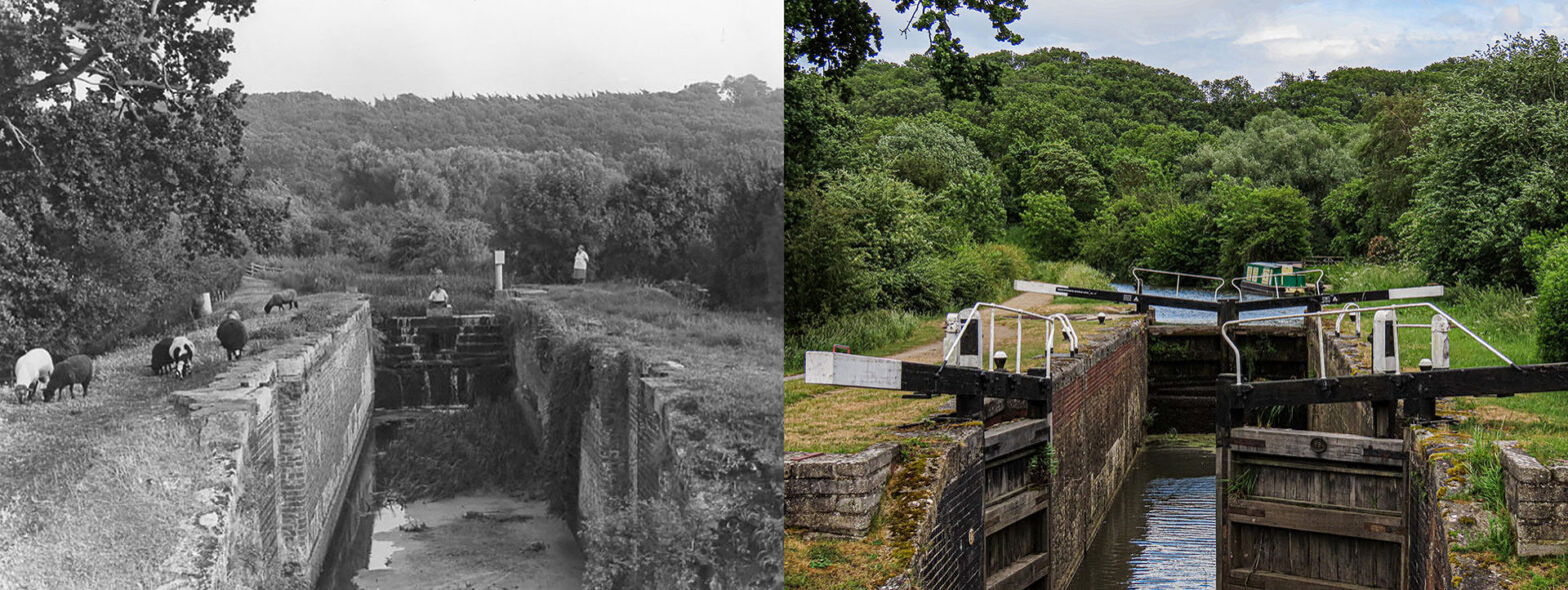 Willis's Lock (Lock 17) - Then and now