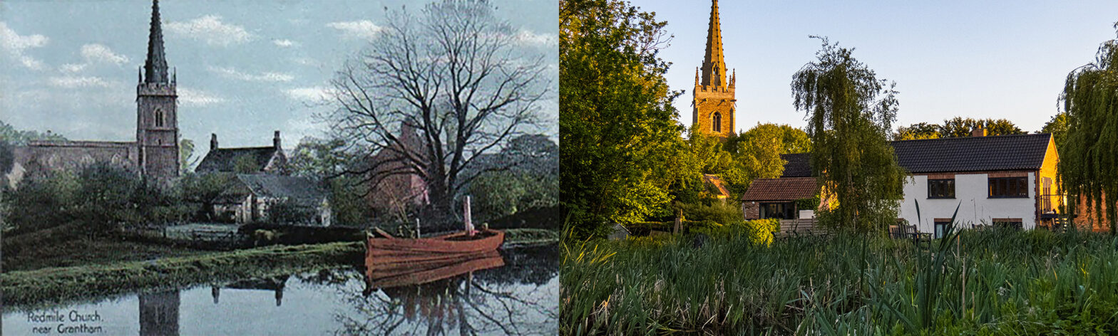 Redmile - Grantham Canal - Then and now